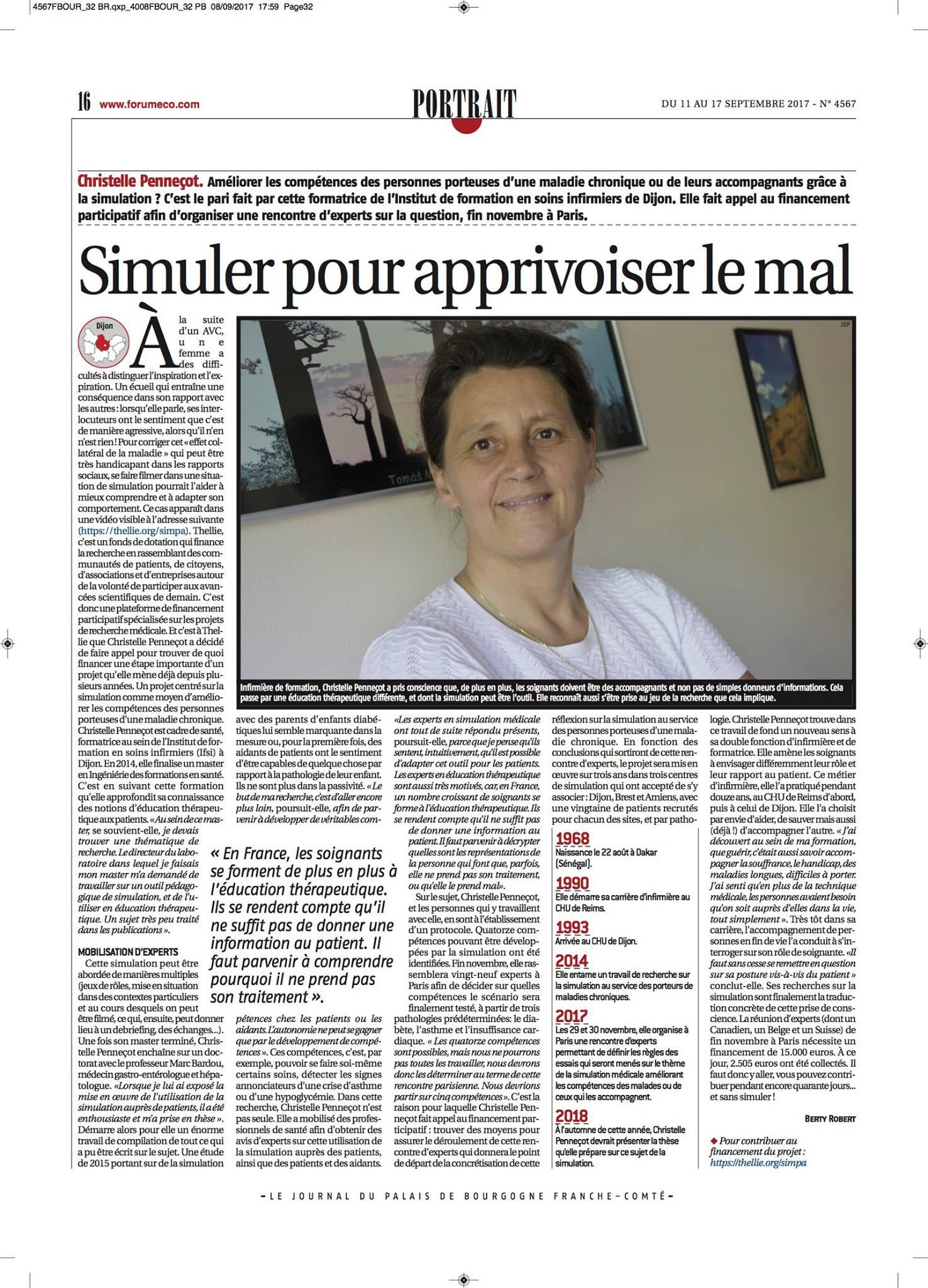 Interview du journal du plais